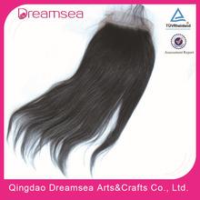 7A human light yaky hair lace closure 5x5 virgin brazilian hair cheapest price