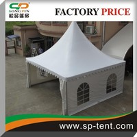 Free Sample PVC polyester luxury linning Outdoor Pavilion canvas pagoda tent