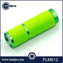 "Trade Assurance new fashion AAA battery 3-1/2"" 9 led flashlight green"