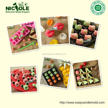 Nicole 3D candy cane design silicone christmas soap moulds