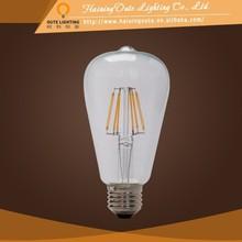 European classic style led chip 6w st64 led filament bulb