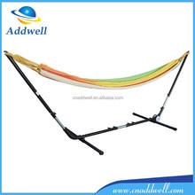 Outdoor canvas garden hammock with steel stand