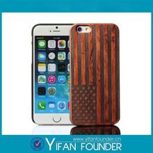 Original wood case laser America Flag phone case for iphone 6
