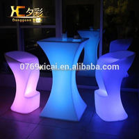 Hight Light Up Plastic Cocktail Table Night Club LED Wine Tables