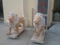 home and garden decoration life-size antique lion statues,stone statues and sculpture