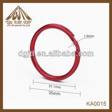 Fashion high quality red keyring regular size