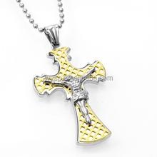 Fashion custom stainless steel cross pendant christian