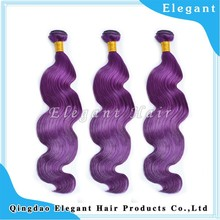 Full Cuticle 6A best virgin human hair body wave purple Brazilian hair extension weft