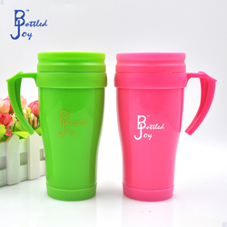 china products wholesale cups plastic, paper insert travel mug with logo