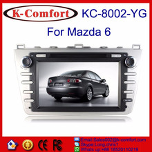 K-comfort Factory car dvd gps for old mazda 6 with SWC GPS + Radio + RDS BT+ SD + USB CD/DVD IPOD Aux-in