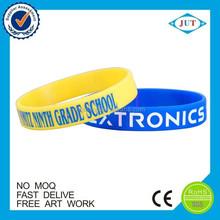 Fashion design rubber band sports custom silicone bracelet