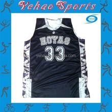 Full sublimated basketball uniform custom logo for high school team