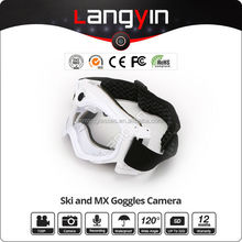 patent design Wide angle HD 720P/30fps skiing/motorcycle Goggles camera