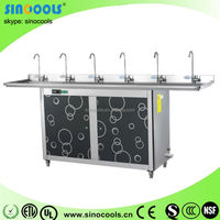 Six tap Hot selling Boiled water machine for school