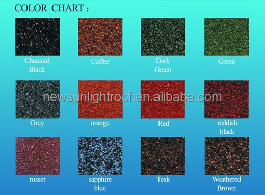 Roof Material CE Certificate shingle mixed color stone coated steel roof tile