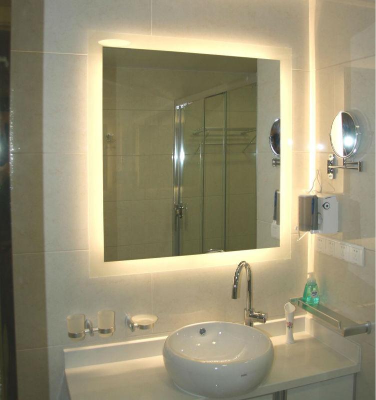 Moderno cuarto de ba o espejo luz pared decorativos for Espejos decorativos bano