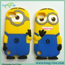 Hot Sale Cute 3D Cartoon Minions Silicone Cover Case for iPod Touch 5