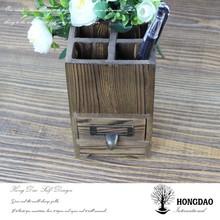 HONGDAO Professional custom wooden pencil vase, wooden pen container