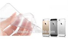 Las ventas caliente baratos y transparente de silicona cubierta del teléfono móvil para el iphone 5,5s, 5c, 6