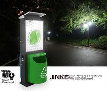 China Factory Direct Sale LED Lighting Box Recycling Swing Trash Barrel