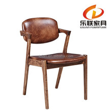 Foshan Lelian carved dining chair/restaurant chairs with fabric or leather FD14A2