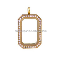 2015 Hot Selling Gold Heritage Locket with Crystals