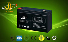 JL power rechargeable 6v10ah sealed lead acid battery