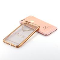 Diamond Swarovski Back Cover Tpu Mobile Phone Case with toughened membrane