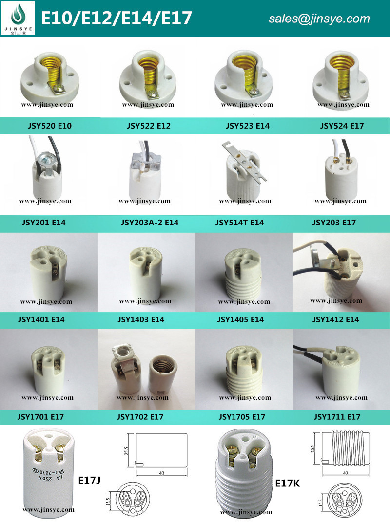 E26 Socket Ceramic Lamp Holder Of Ul - Buy E26 Socket,Ceramic Heat ...