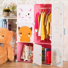 Cartoon design incredible pp plastic smail wardrobe