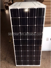 A-grade cell high efficiency mono 100W PV solar panel