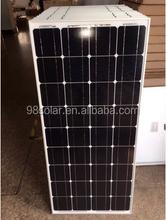 A-grade cell pv panel high efficiency mono 100W home solar panel