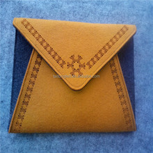 yellow felt lady handbag