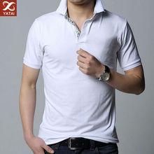 Plain white color unbranded polo shirts for men clothing factories in china