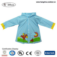 2015 Fashionable Waterproof Safety PVC Raincoat / Rubber Boots For Kids