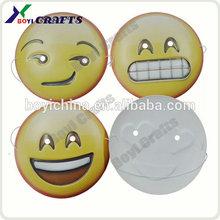 2015, máscara de PVC personalizada para fiestas, máscara emoji