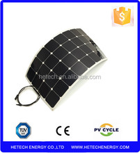 High efficiency 100W flexible solar panel china for charging 12V batter