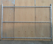 Hot sale horizontal galvanized chain link fence panels