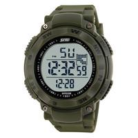 100% Original skmei 1024 mens military outdoor style 3atm water resist led digital clock sport watch