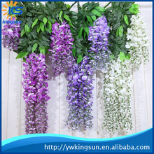 Plastic Silk Wisteria Wedding Artificial Flower For Wedding And Wall Decoration
