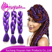 Fantasy lilac lavender jumbo braid hair extension for dreads,purple synthetic hair braid
