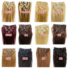 High Quality Goods 8-32'' inch Clip-in Human Hair Extensions,Different Color And Length Can Be Customized,Clip in Human Hair