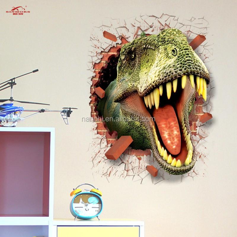 3d 이동식 장식 벽 스티커 스티커 녹색 공룡 도매 제조 업체 ...