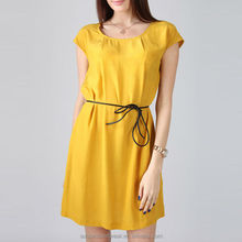 YIGELILA Hot Sale Yellow Woman Cap Sleeve Short Shop Womens Prom Dresses 6322