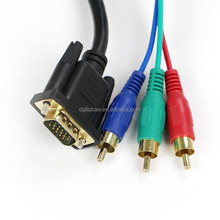 1.5 M VGA to 3 rca audio/video cable