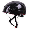 Double PC safety gear equipment colorful glossy adult hiking helmet