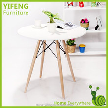 High popular eames table mdf coffee shop table top mdf colorful wood table