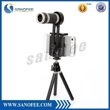 Universal 8 x zoom lens for mobile phone