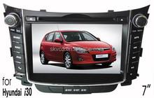 """(for Hyundai I30) 7"""" HD digital in-dash car GPS DVD player, with TV,radio, bluetooth, iPOD"""