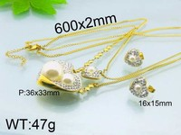 wholesale hot cheap jewelry sets with white pearl